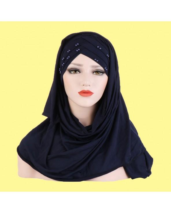 hijab à enfiler croisé avec...