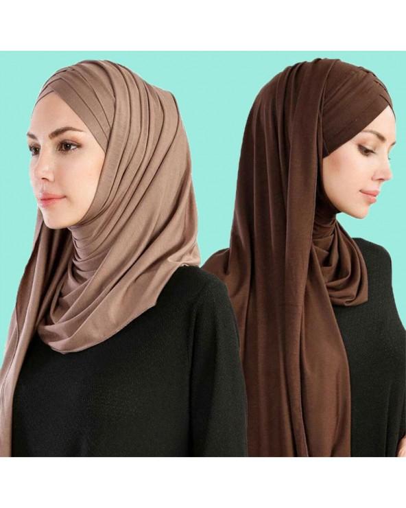 hijab à enfiler croisé